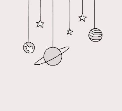 Planeten und Sterne zeichnen