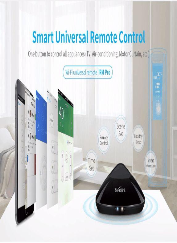 BroadLink WiFi RM-Pro télécommande pour les appareils électroménagers € 32,90 Le BroadLink RM-Pro contrôler tous les appareils IR / appareils. Il peut également contrôler les appareils RF travaillant sur le 433MHz et 315 fréquences mégahertz dans toute votre maison. Ainsi , vous pouvez contrôler la télévision, stéréo, lecteur DVD, Blu - ray, projecteur, interrupteurs, et bien d' autres appareils avec cette télécommande.  Contrôlez vos appareils domestiques et des appareils utilisant votre…