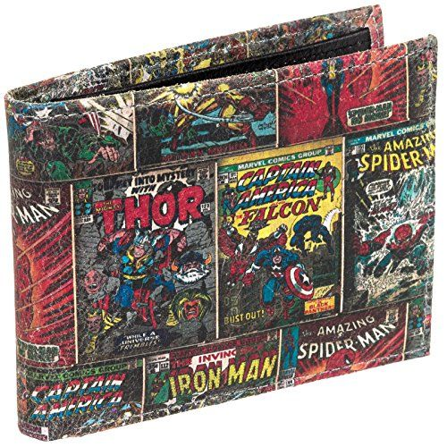 Marvel Comics Genuine Leather Bifold Wallet w/ Gift Box (Multi-Character) @ niftywarehouse.com