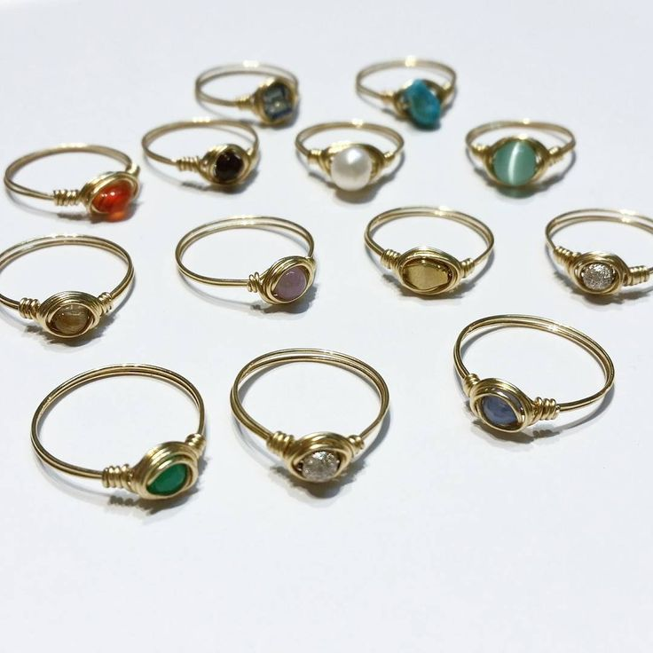 Petit semi-precious stone rings, some new spring colors in the mix. @TOODLEBUNNY . . . . #semipreciousstones #gemstones #carnelian #turquoise #crystal #blueonyx #stardust #pearls #garnet #wirewrappedring #rings  #delicatejewelry #showmeyourrings #toodlebunny #madeinvancouver #eastvan
