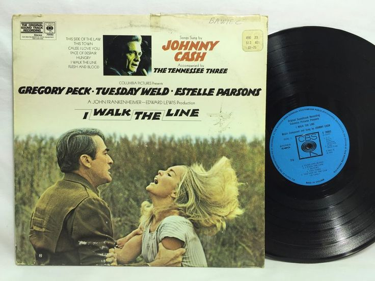 Johnny Cash - I Walk The Line. 1971 Film Soundtrack LP #Vinyl Record UK CBS