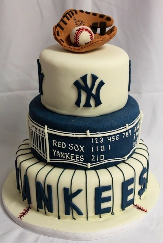 New York Yankees Cake  Rehearsal Dinner Ideas cakepins.com