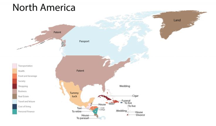 10 best maps images on pinterest infographic maps and swiss guard image source fixr a map of the north american continent showing the results of the most searched terms according the the respective countries gumiabroncs Image collections