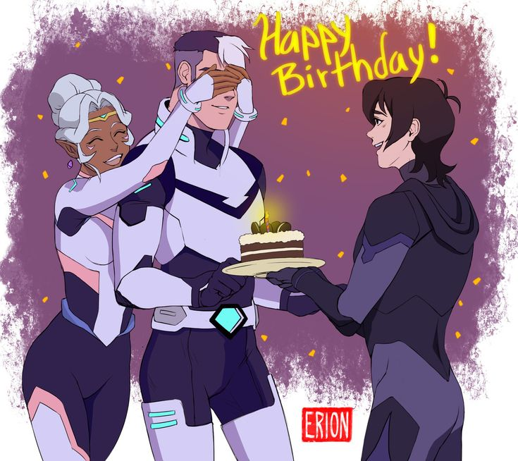 """eri-damon: """" Happy late birthday, Shiro! I was waiting for february 29 to upload my fanart but I was so silly I didn´t realize there is no february 29 this year www Shiro doesn´t know Keith is there,..."""