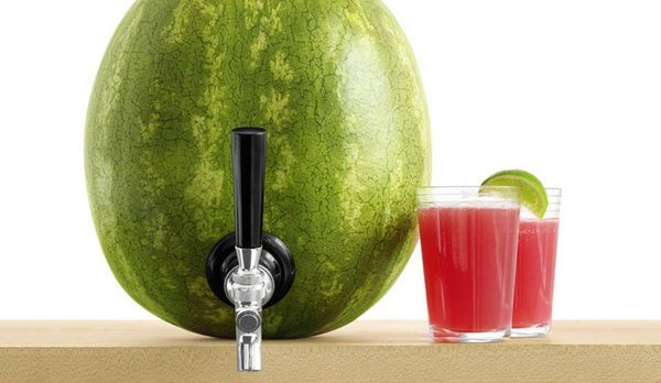 Watermelon Juice Dispensers - KegWork's Watermelon Tap Kit Turns Your Melon into a Fruity Keg (GALLERY)