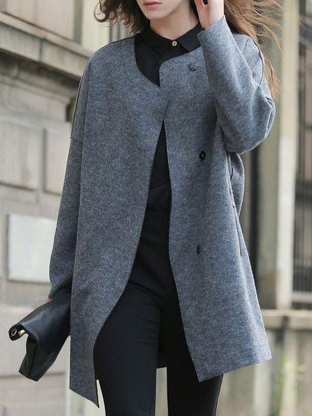 Paneled Wool Long coat