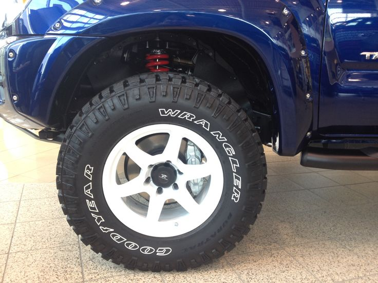 tacoma goodyear toyota wrangler trail trd wheels teams fn lift duratrac light boss package 70r17 kits t3 grill toytec