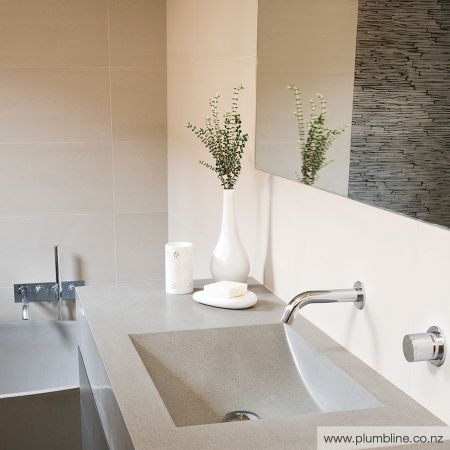 Scoop 1200 Single Stone Vanity Top - apaiser Stone Vanity Tops - Basins - Bathroom