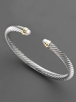 David Yurman - pearl accent bracelet...so pretty...want this to add to my collection to beautiful yurman pieces
