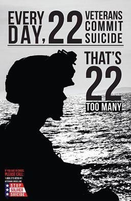 #Veteran #Suicides per day: 22 too many.