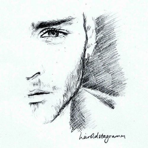 Imagen de boy, drawing, and zayn malik