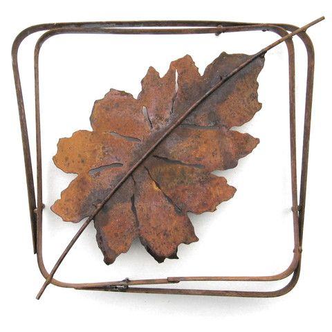 Beech Leaf Steel Frame XL LFRX-08, Small LFR-08 by Metallic Evolution
