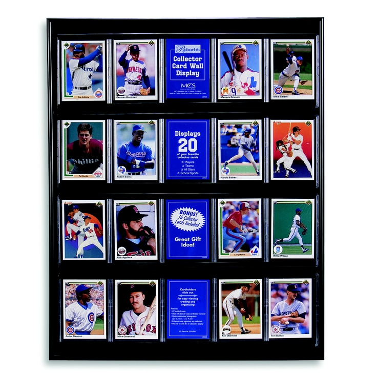 Show off up to 20 of your favorite trading cards while protecting them in this collector's display frame. If you like this item, repin it! #gifts: Cards Display, Black Trading, Baseball Cards Walmart, Art Cards, Gift Ideas, Display Case 16 97, Trading Cards, Baseball Card Displays, Displaying Trading
