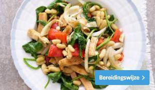recept groentewokstukjes met spinazie en venkel