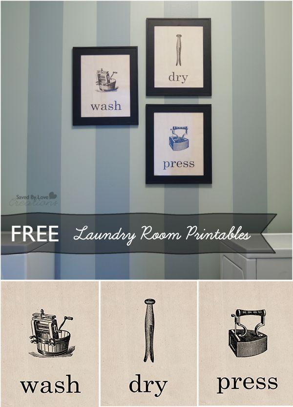 Three Free Laundry Room Printables @savedbyloves
