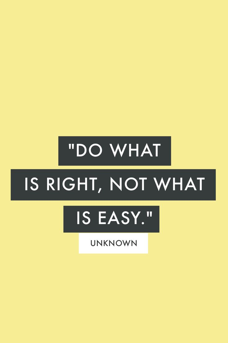 """Do what is right, not what is easy."" - Unknown  #madewithover  Download and edit your own quotes in Over today."