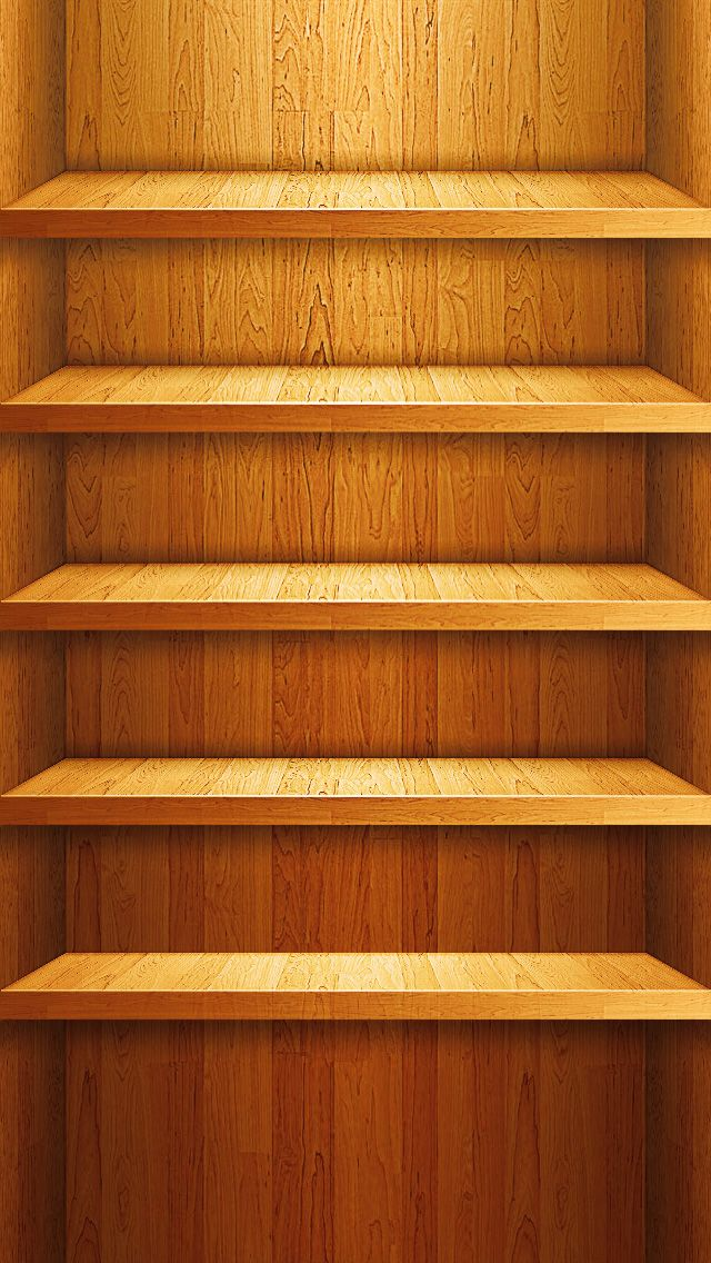 iPhone 5 Shelf iPhone Wallpaper