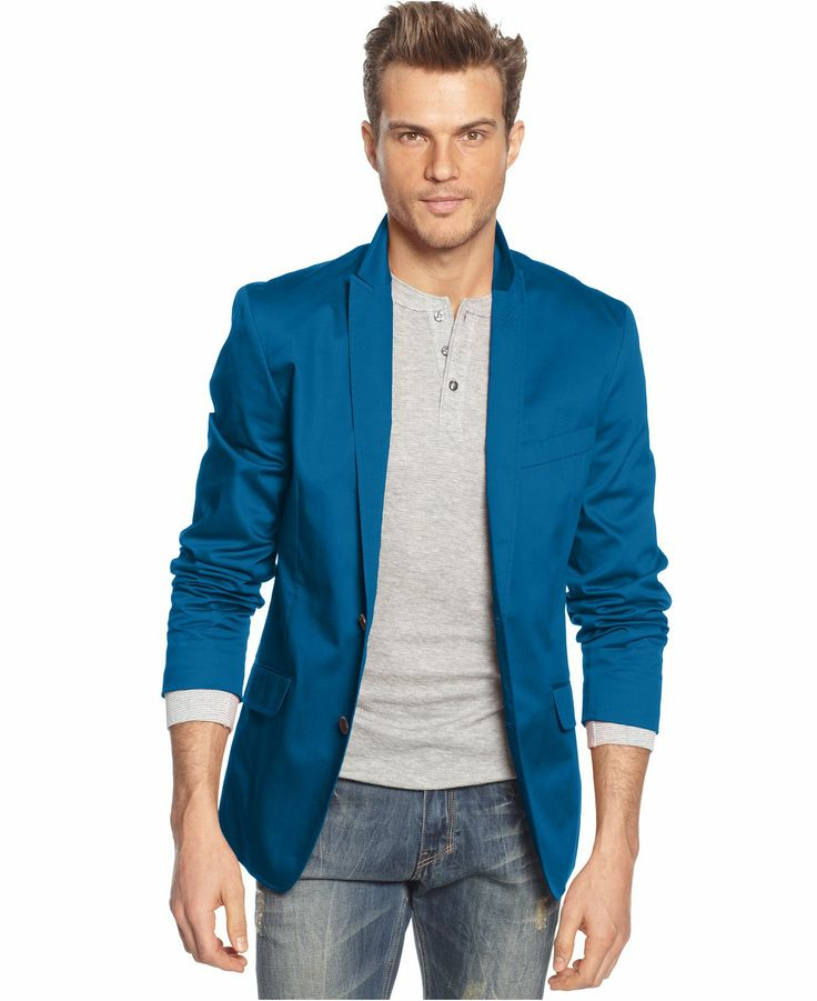 The sports jacket's original function affects its fit. A sports jacket should always fit loose enough to allow for layering underneath. The loose fit of the sports jacket allows one to wear a sweater underneath. It is definitely looser than a suit jacket. The Fabric. The sports jacket was meant to look more rugged than the suit and the blazer.