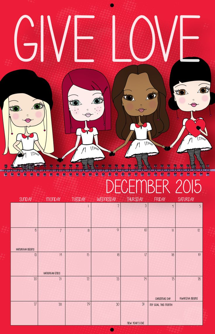 Give Love This Christmas with an Inspirational Calendar.