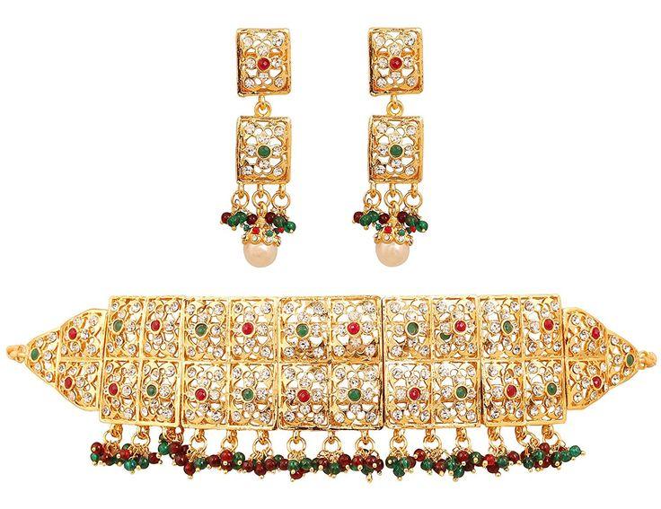 Sabyasachi Padmavati Kundan Pearl Drop Choker Necklace Set ...