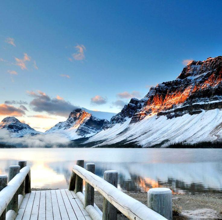 Bow Lake, Banff National Park, The Rockies, Canada #TravelTuesday