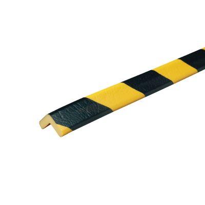 Kantbeskytter Profil H - 1 m i gul/sort