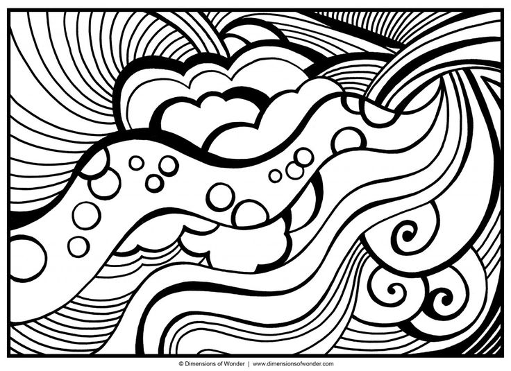 Abstract Heart Coloring Pages Difficult For Teenagers