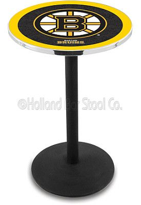 Holland Boston Bruins Round Base Pub Table - Shop.Canada.NHL.com