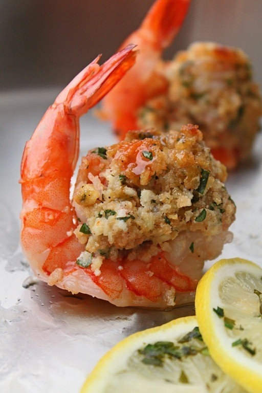<3 Baked Stuffed Shrimp with Crabmeat Stuffing ~ For the recipe, click here... http://www.food.com/recipe/baked-stuffed-shrimp-with-crabmeat-stuffing-61279