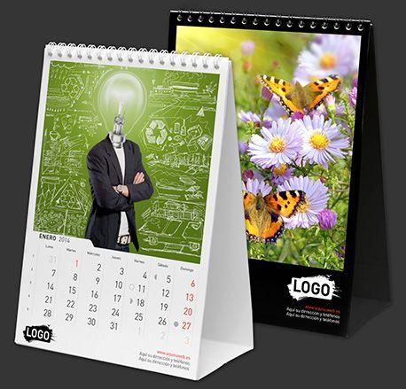 Calendario de mesa personalizado 15x21 cm con espiral    - Impreso a todo color…