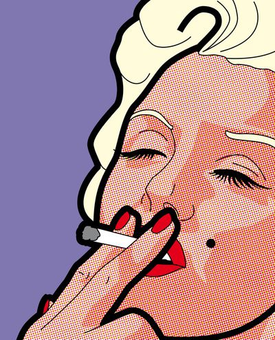 Pop Icons - Marilyn Art Print by Greg-guillemin