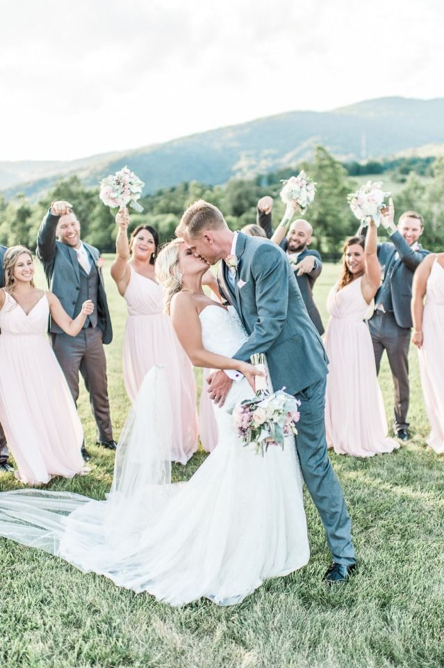 Tremendous Elegant and Dreamy Pure Blush Out of doors Winery Marriage ceremony
