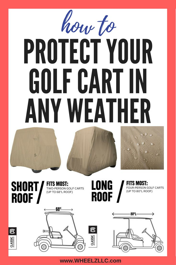 Protect your golf cart from wind, rain, and sun with Fairway golf cart cover. #golfcart #fairway #golfcar #golfcartaccessories