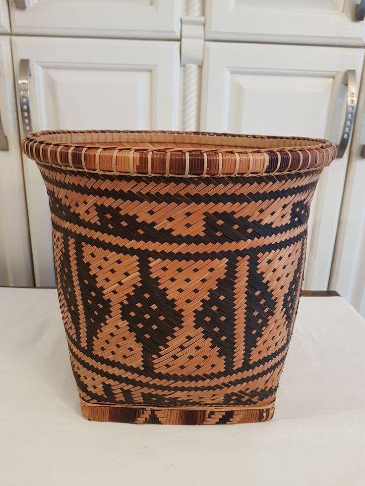 HAND WOVEN CHACTAW Tribe Native Indian Basket Extra Large, Ornate Basket Weaving, by UptownRetroMod on Etsy