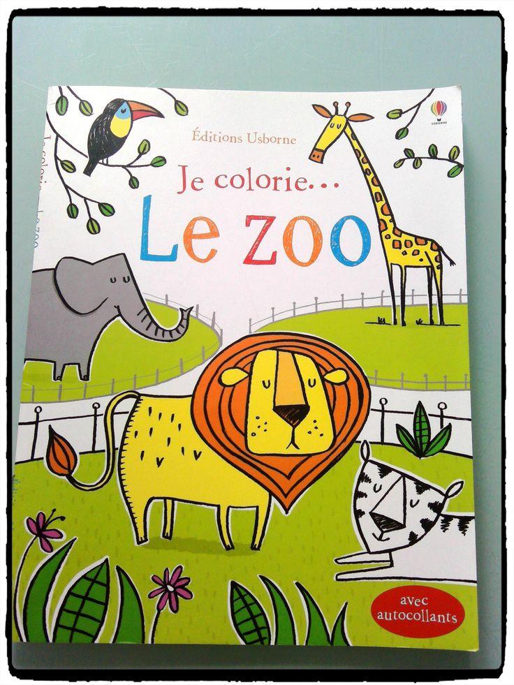 livres de coloriage le zoo, éditions usborne