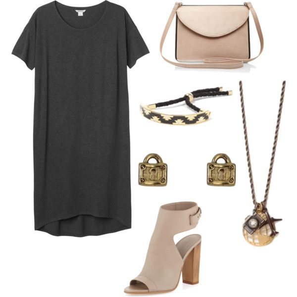 Tshirt dress with Foxy by brittanypileggi on Polyvore featuring Monki, Vince and Carven