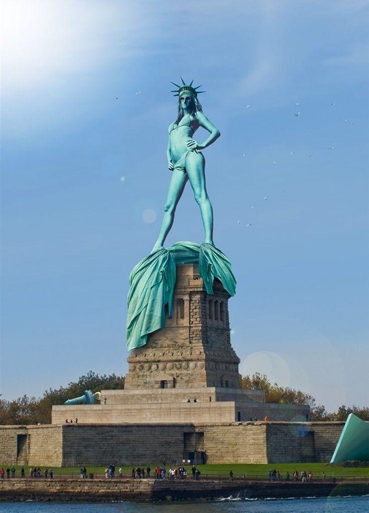 : Statue Of Liberty, Lady Liberty, Statues, Funny Stuff, Humor, Global Warming