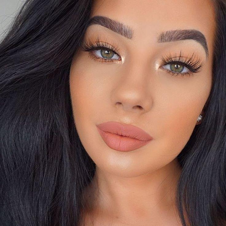 Matte Peach Lip Summer makeup