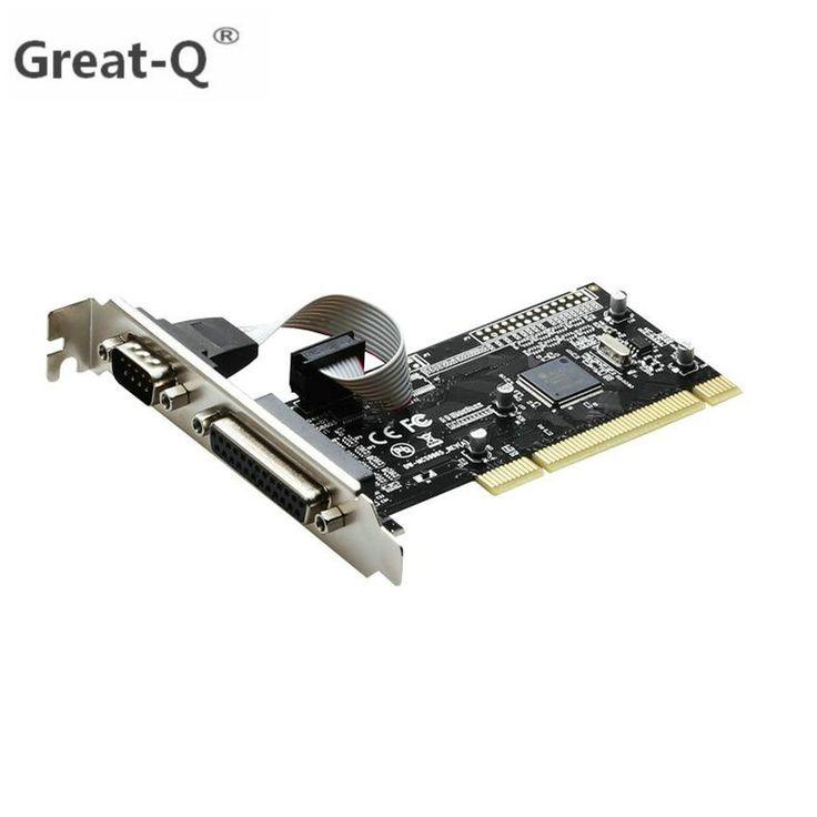 Check Price Great-Q RS232 RS-232 Serial Port COM & DB25 Printer Parallel Port LPT to PCI riser Card Adapter Converter AX9865 Chip adaptator #Great-Q #RS232 #RS-232 #Serial #Port #DB25 #Printer #Parallel #riser #Card #Adapter #Converter #AX9865 #Chip #adaptator