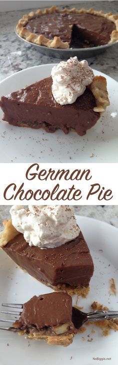 german chocolate pie - like german chocolate cake...only PIE!   NoBiggie.net