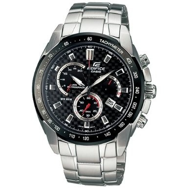 THE SUPPLY SHOPPE - Product - CW146 EDIFICE BLACK STAINLESS STEEL (EF-521SP-1AVDF)