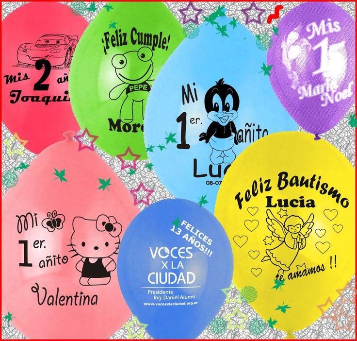 globos impresos personalizados x 30
