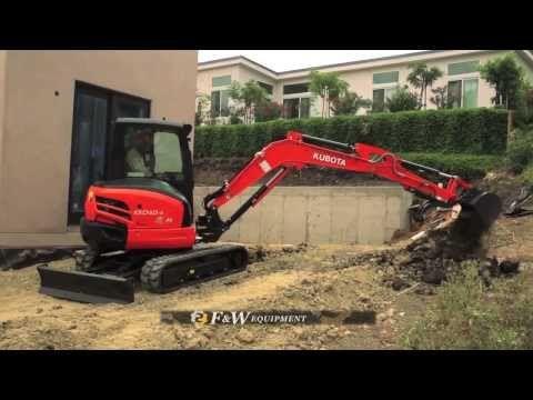 Grading A Driveway With A Kubota U48-4 Excavator. - YouTube