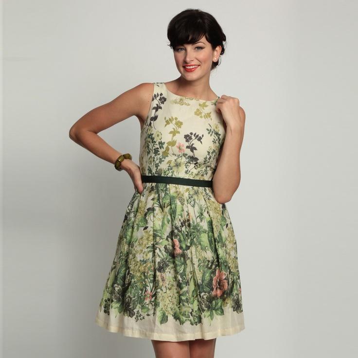 Eva Franco   Retro Violet Dress English Ivy