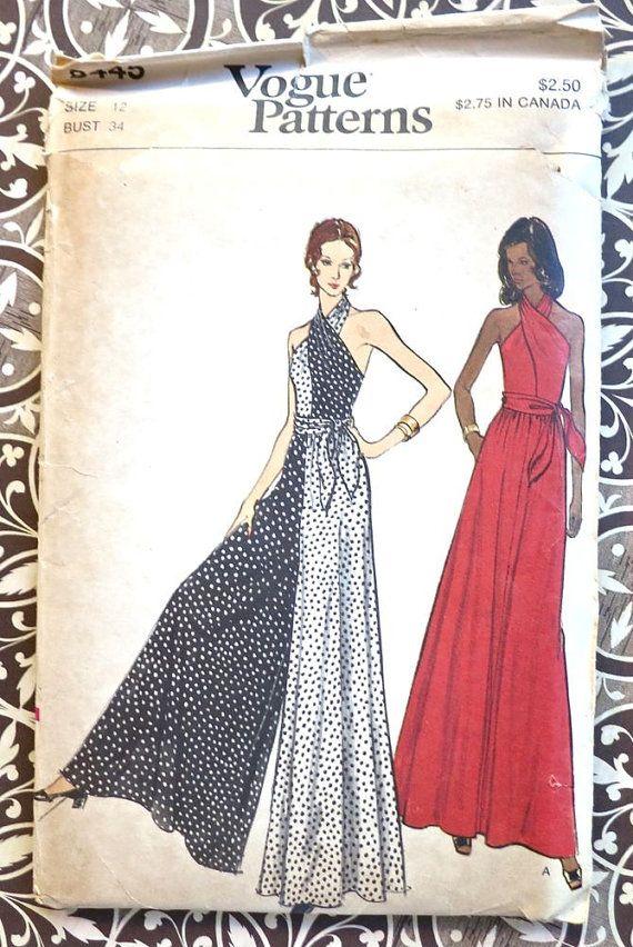 Vogue 8445  Vintage 1970s Womens Jumpsuit/Dress by Fragolina, $12.00