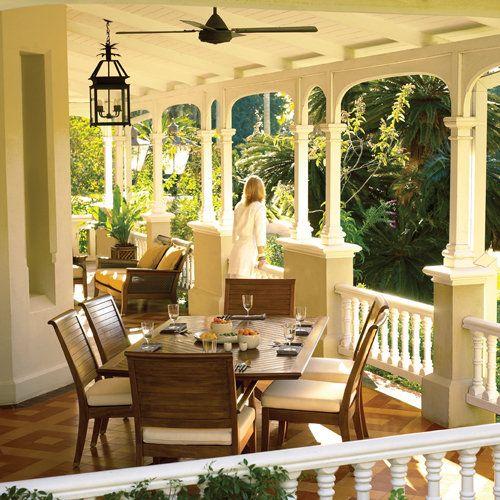 .Colonial Decor, Dreams, House Ideas, Colonial Porches Fans, British Colonial Style, Patios, Outdoor Spaces, Wraps Around Porches, Front Porches