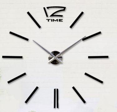 Tee-se-itse iso seinäkello. Tällä suurella kellolla saat seinällesi näyttävyyttä. Kello sommiteltavissa haluttuun kokoon välillä 70 - 130cm (halkaisija).  Kellon osat ovat tiivistä vaahtomuovia, pintaan kiinnitetään peilipintainen tarra. Kello toimii yhdellä AA-paristolla (HUOM! Paristo ei sisälly pakkaukseen!)  Tuntiviisarin pituus 31,5cm, minuuttiviisarin pituus 39cm, koneiston halkaisija 12cm.