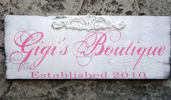Business signs or Custom Family Name sign.