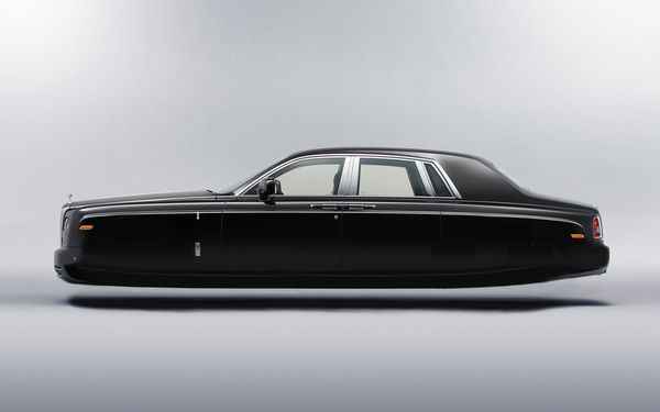 Rolls Royce, hovering in style.