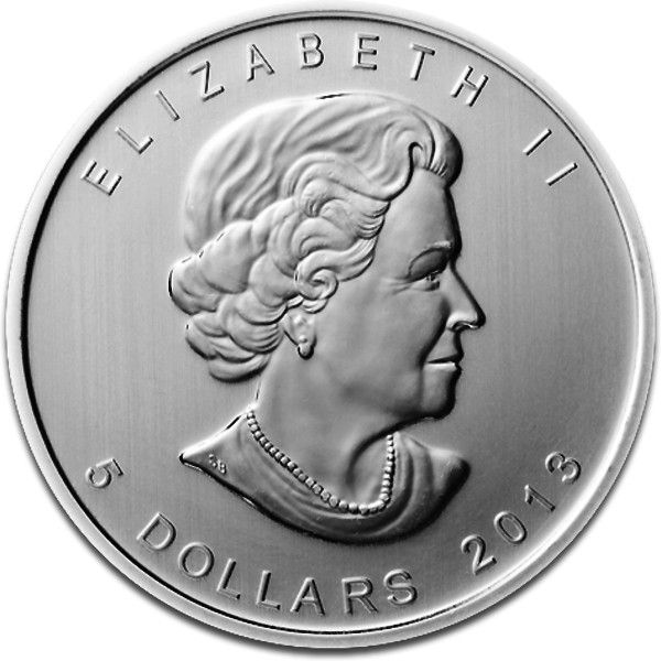 Canadian Silber Maple Leaf 2013 Reverse